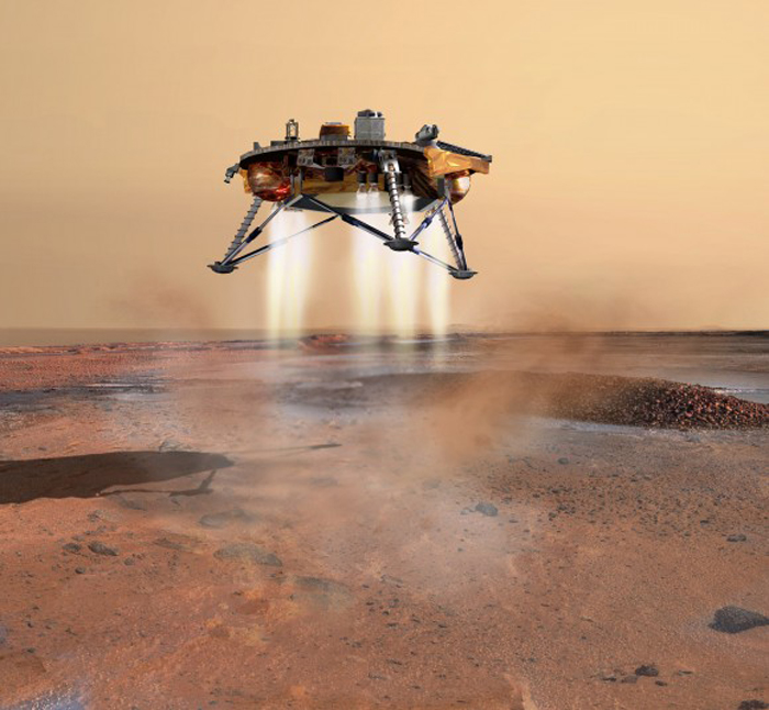 2008 Phoenix Mars Landing with Aerojet rockets