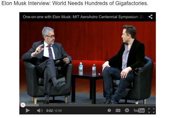 Elon Musk the world needs more gigafactories